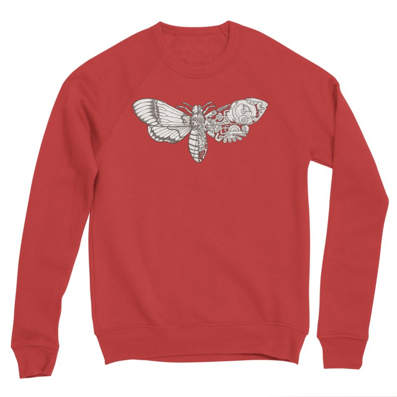 death head moth sci-fi Men's Sponge Fleece Sweatshirt by makapa's Artist Shop