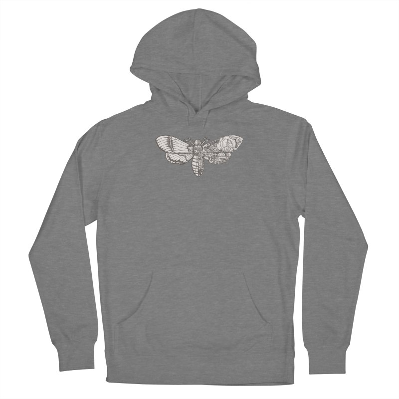 death head moth sci-fi Women's Pullover Hoody by makapa's Artist Shop