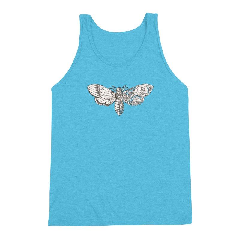 death head moth sci-fi Men's Triblend Tank by makapa's Artist Shop