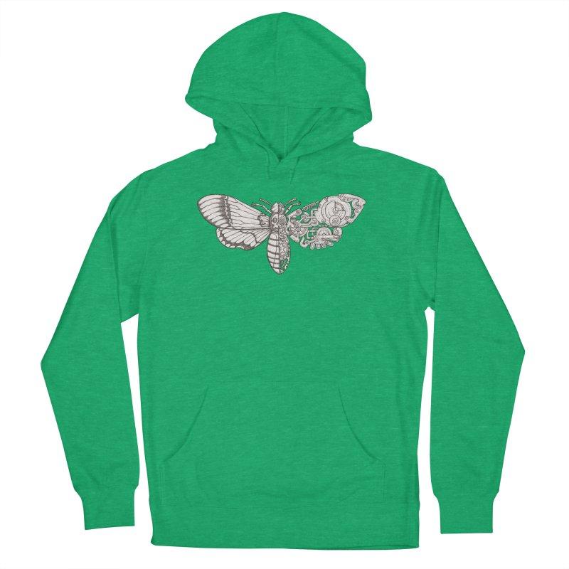 death head moth sci-fi Women's French Terry Pullover Hoody by makapa's Artist Shop