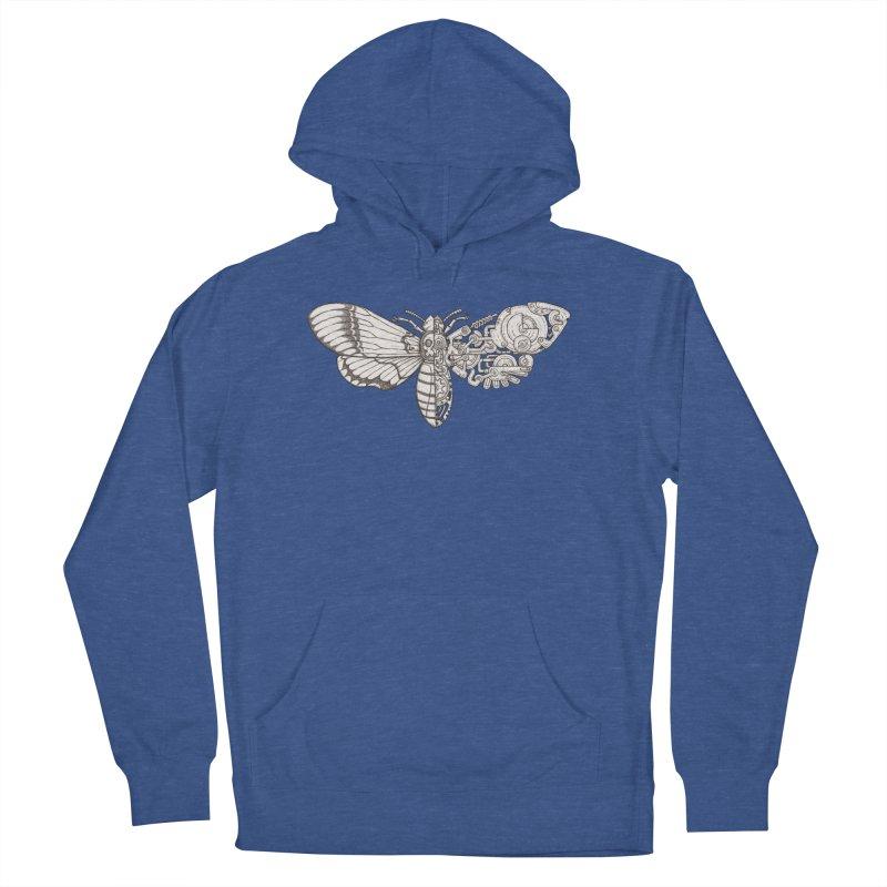 death head moth sci-fi Men's French Terry Pullover Hoody by makapa's Artist Shop
