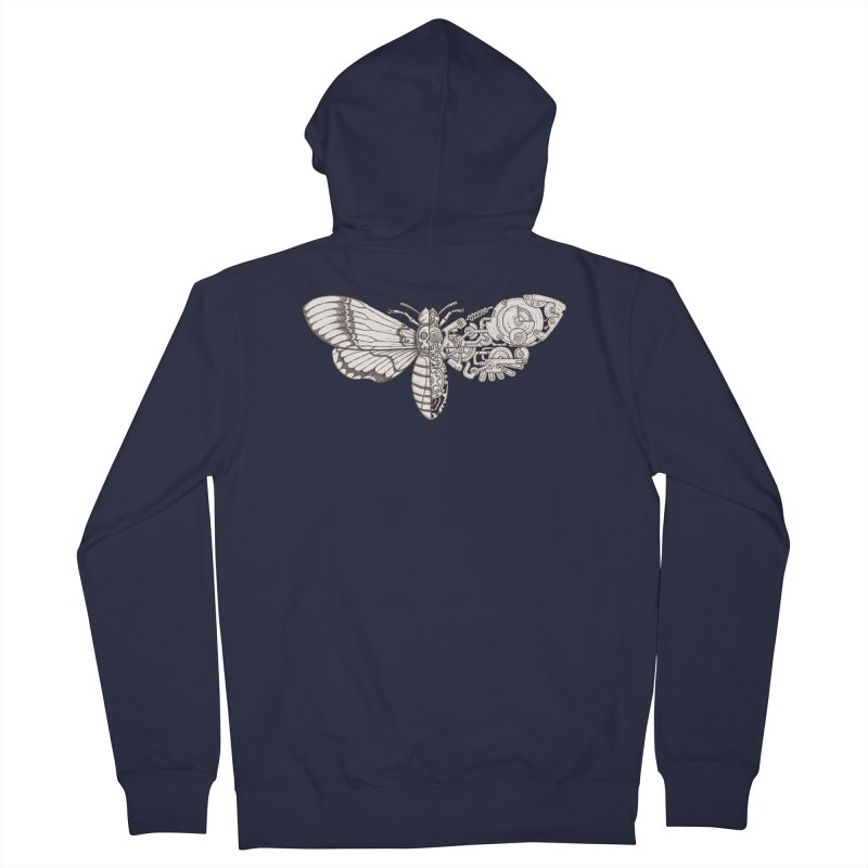 death head moth sci-fi Men's French Terry Zip-Up Hoody by makapa's Artist Shop