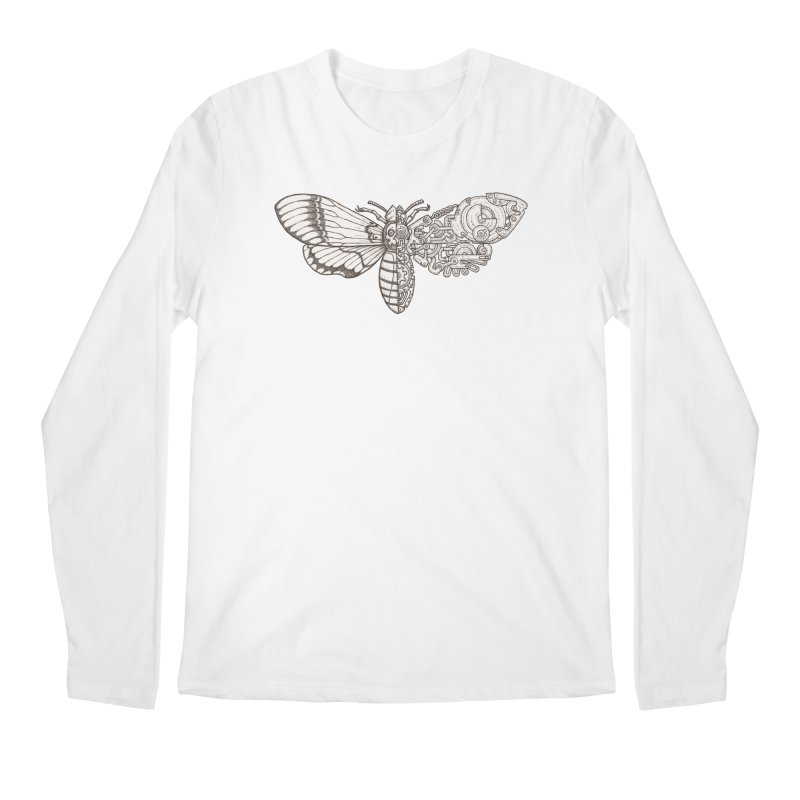 death head moth sci-fi Men's Regular Longsleeve T-Shirt by makapa's Artist Shop