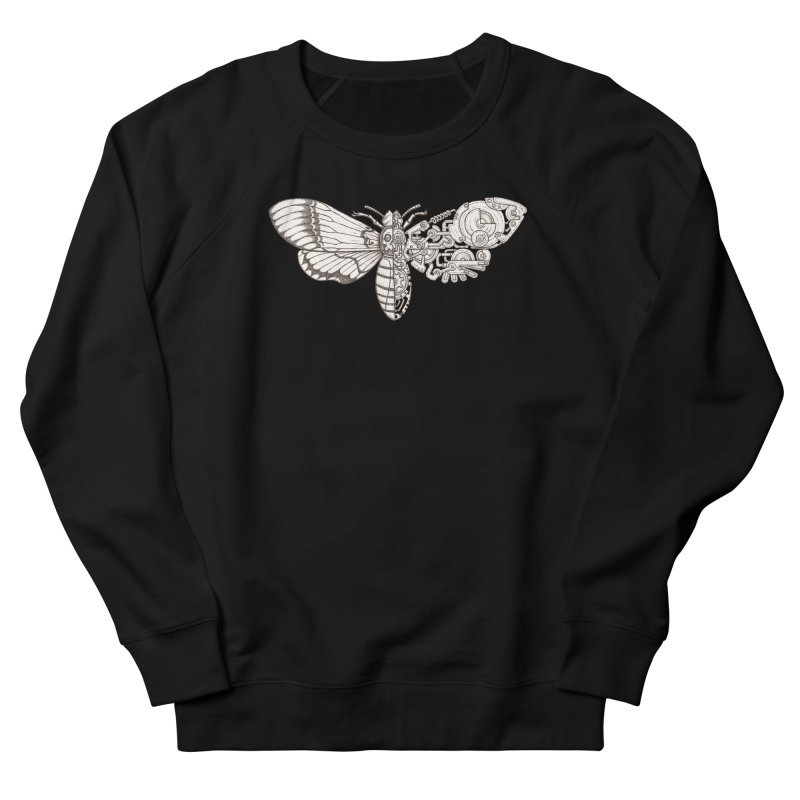 death head moth sci-fi Women's French Terry Sweatshirt by makapa's Artist Shop