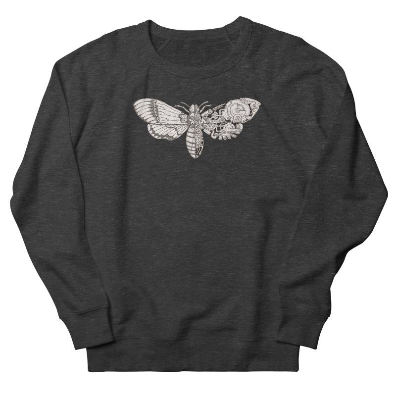 death head moth sci-fi Men's French Terry Sweatshirt by makapa's Artist Shop