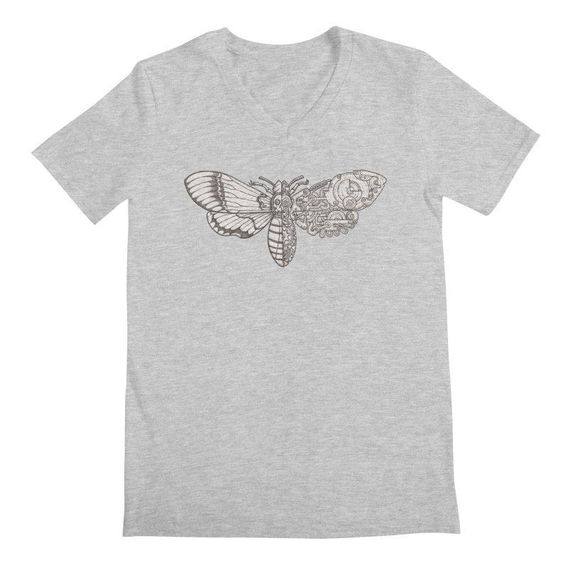 death head moth sci-fi Men's Regular V-Neck by makapa's Artist Shop