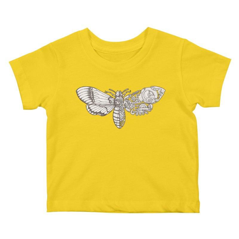 death head moth sci-fi Kids Baby T-Shirt by makapa's Artist Shop