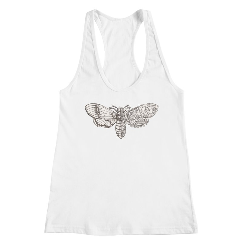 death head moth sci-fi Women's Racerback Tank by makapa's Artist Shop