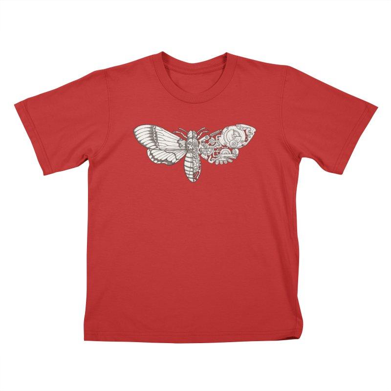 death head moth sci-fi Kids T-Shirt by makapa's Artist Shop