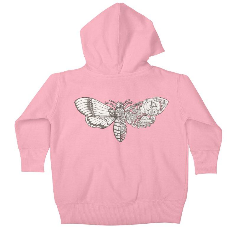 death head moth sci-fi Kids Baby Zip-Up Hoody by makapa's Artist Shop