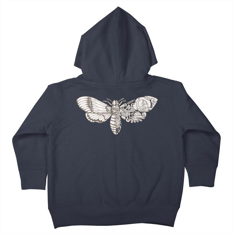 death head moth sci-fi Kids Toddler Zip-Up Hoody by makapa's Artist Shop