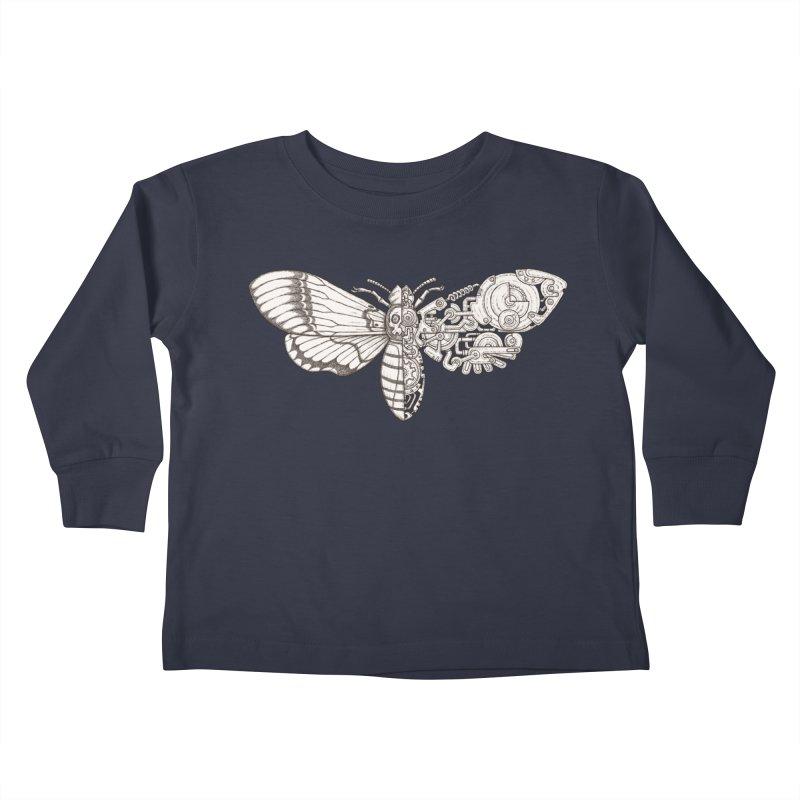death head moth sci-fi Kids Toddler Longsleeve T-Shirt by makapa's Artist Shop