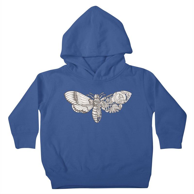 death head moth sci-fi Kids Toddler Pullover Hoody by makapa's Artist Shop