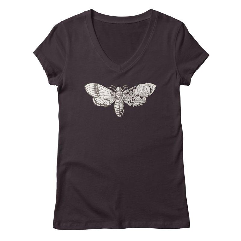 death head moth sci-fi Women's Regular V-Neck by makapa's Artist Shop
