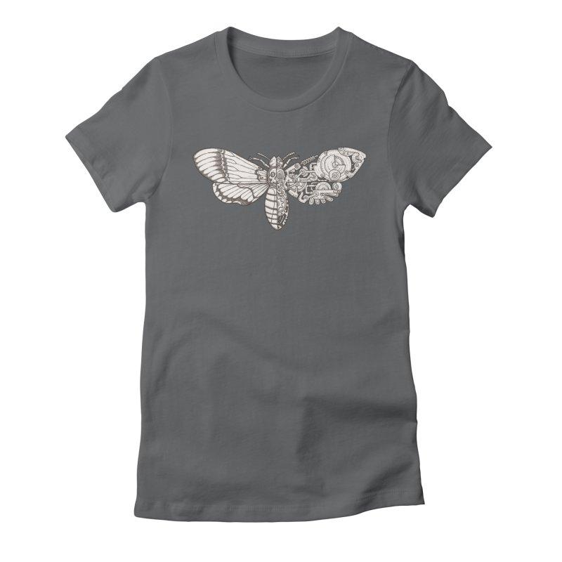 death head moth sci-fi Women's Fitted T-Shirt by makapa's Artist Shop