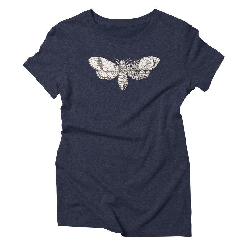 death head moth sci-fi Women's Triblend T-Shirt by makapa's Artist Shop