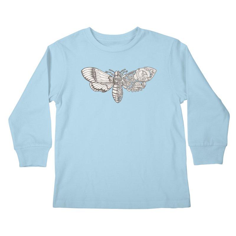 death head moth sci-fi Kids Longsleeve T-Shirt by makapa's Artist Shop