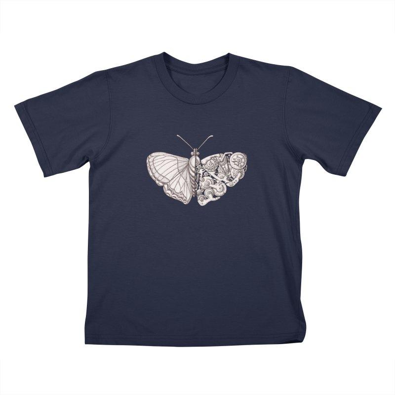 butterfly sci-fi Kids T-Shirt by makapa's Artist Shop