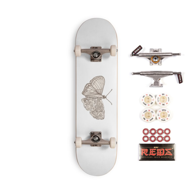 butterfly sci-fi Accessories Complete - Pro Skateboard by makapa's Artist Shop