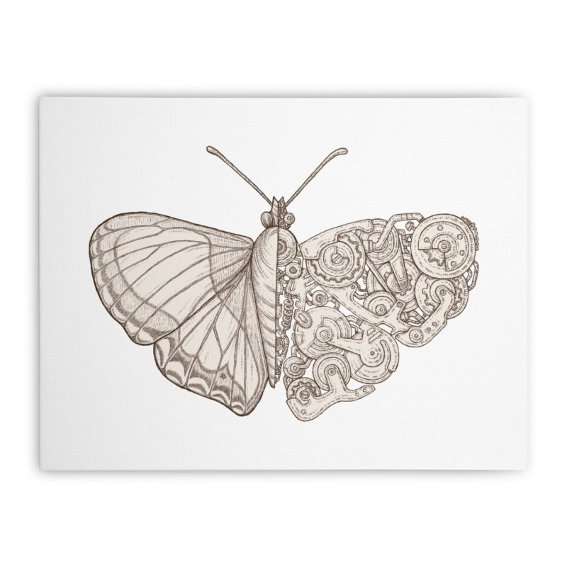 butterfly sci-fi Home Stretched Canvas by makapa's Artist Shop