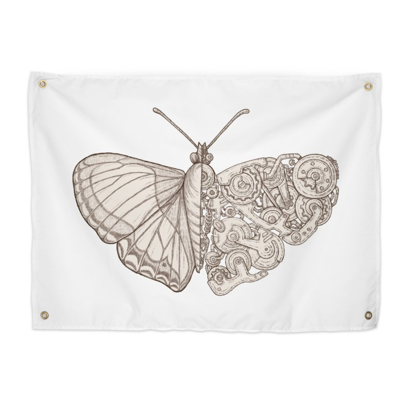 butterfly sci-fi Home Tapestry by makapa's Artist Shop