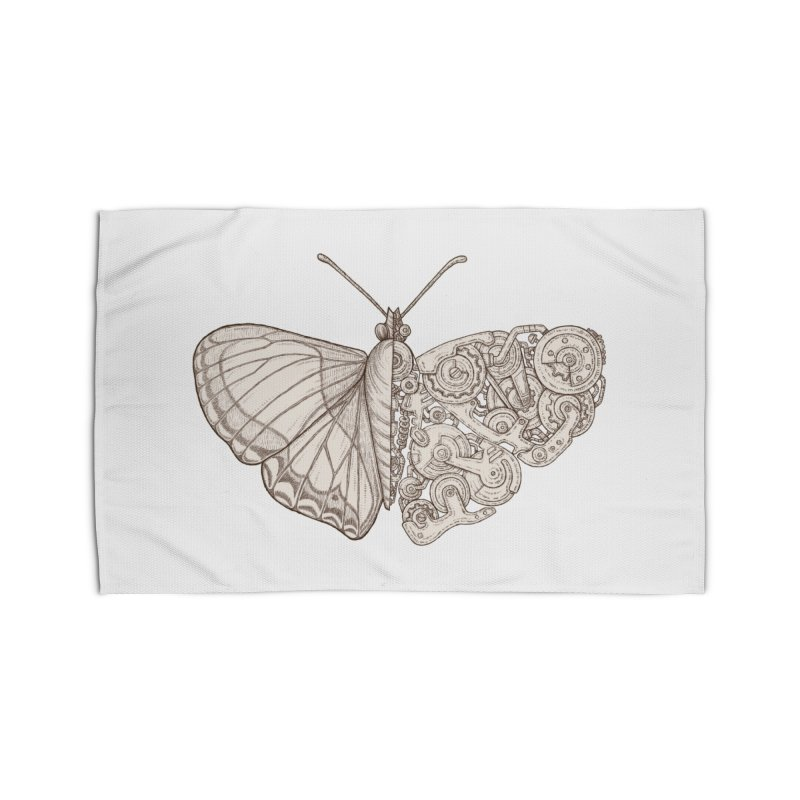butterfly sci-fi Home Rug by makapa's Artist Shop