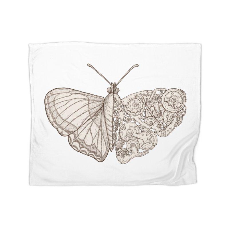 butterfly sci-fi Home Fleece Blanket Blanket by makapa's Artist Shop