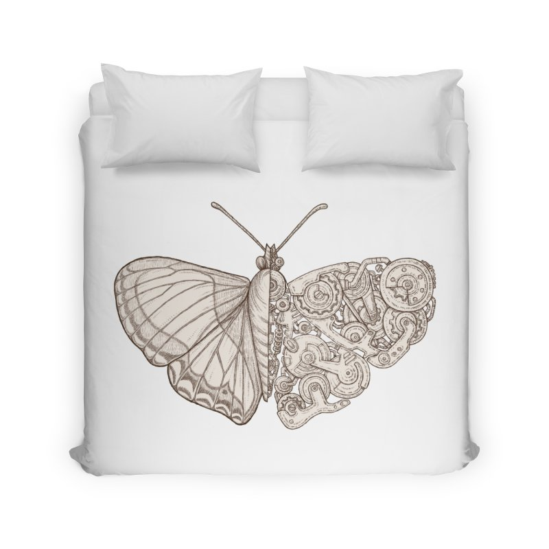 butterfly sci-fi Home Duvet by makapa's Artist Shop