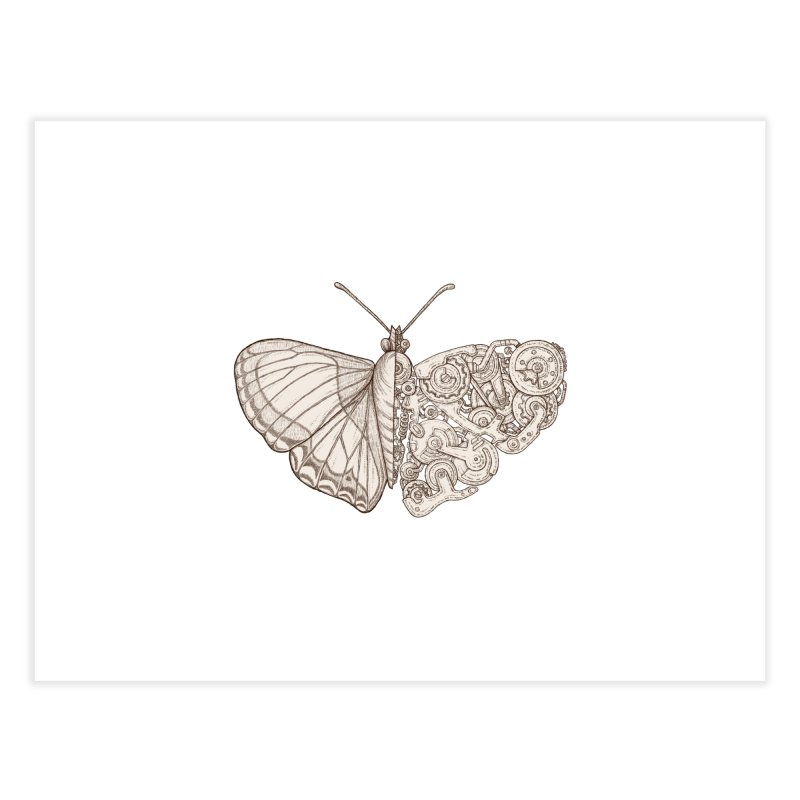 butterfly sci-fi Home Fine Art Print by makapa's Artist Shop