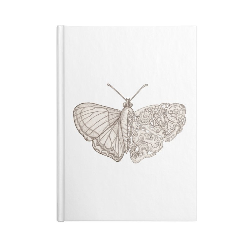 butterfly sci-fi Accessories Lined Journal Notebook by makapa's Artist Shop