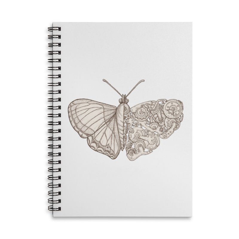 butterfly sci-fi Accessories Lined Spiral Notebook by makapa's Artist Shop