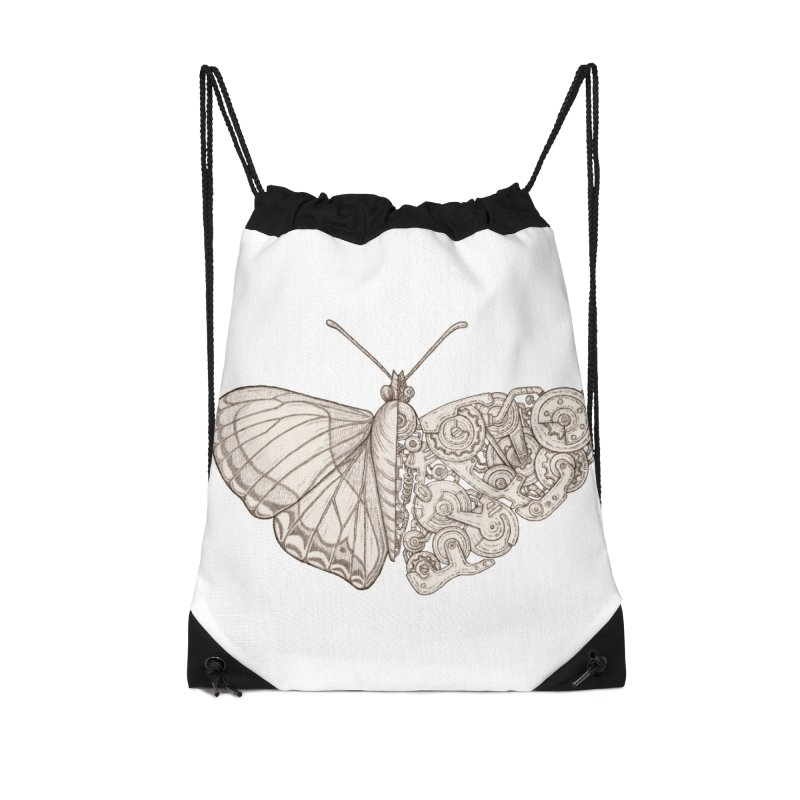 butterfly sci-fi Accessories Drawstring Bag Bag by makapa's Artist Shop