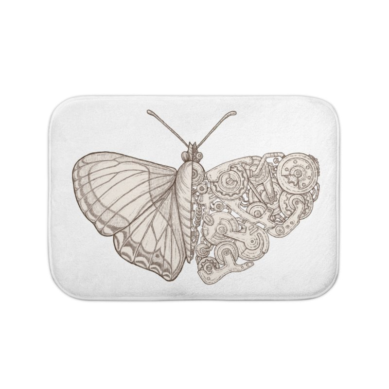 butterfly sci-fi Home Bath Mat by makapa's Artist Shop