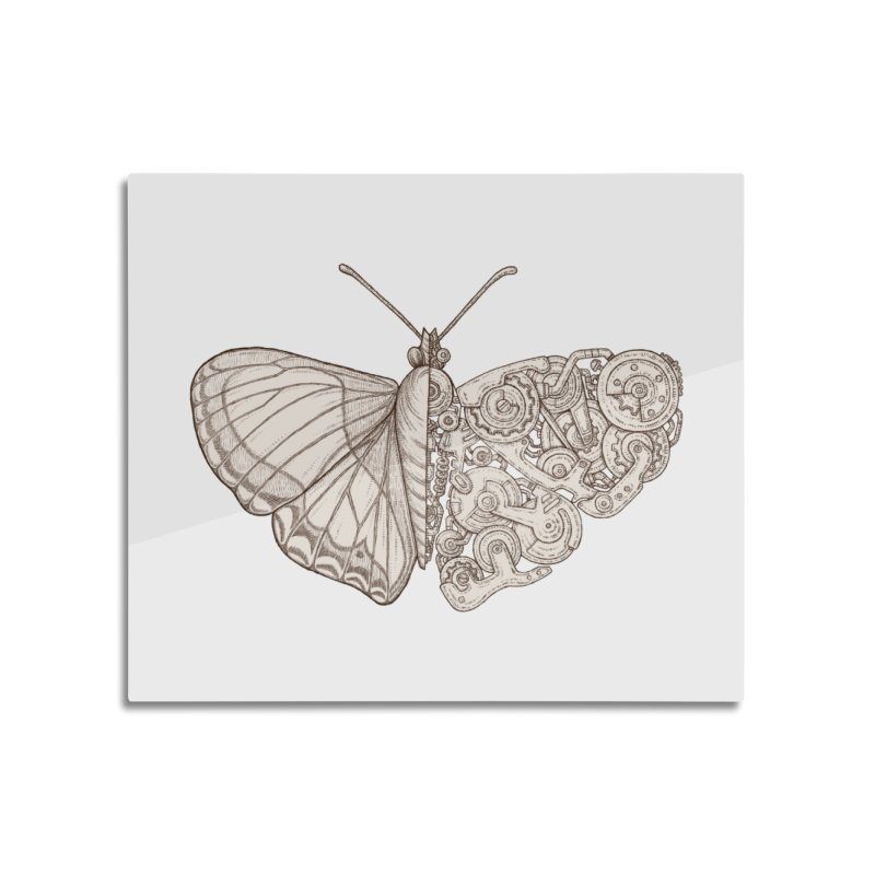 butterfly sci-fi Home Mounted Aluminum Print by makapa's Artist Shop