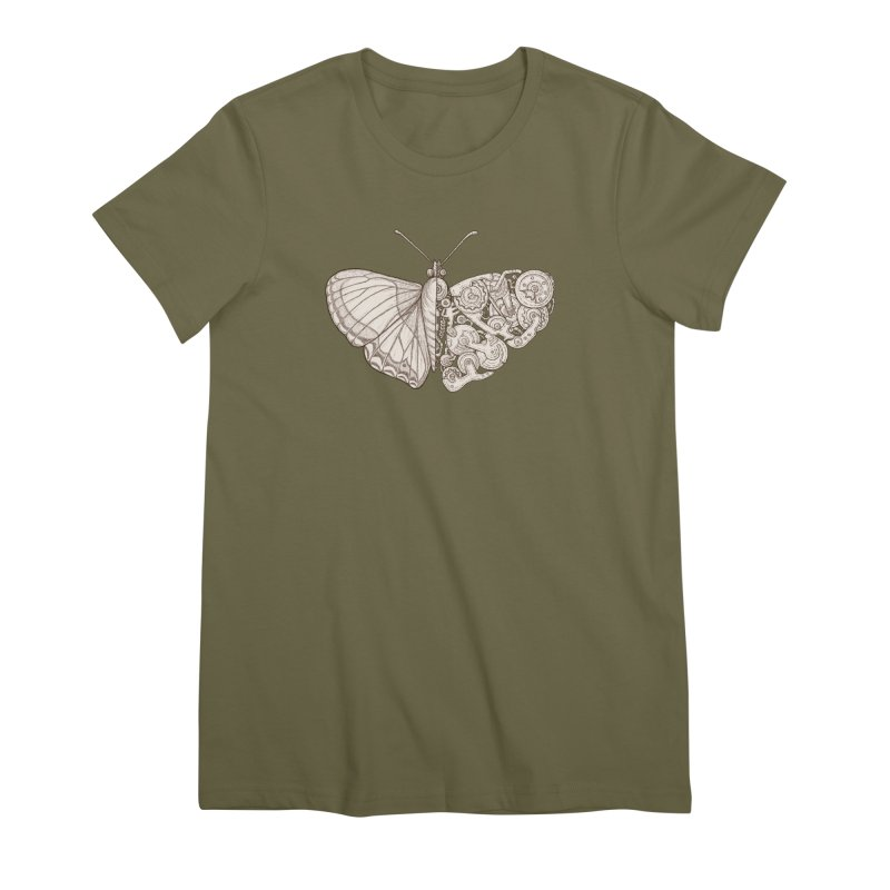 butterfly sci-fi Women's Premium T-Shirt by makapa's Artist Shop