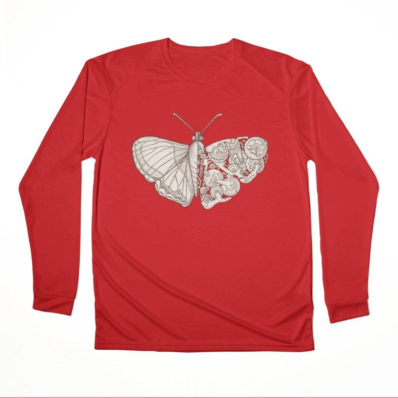 butterfly sci-fi Men's Performance Longsleeve T-Shirt by makapa's Artist Shop