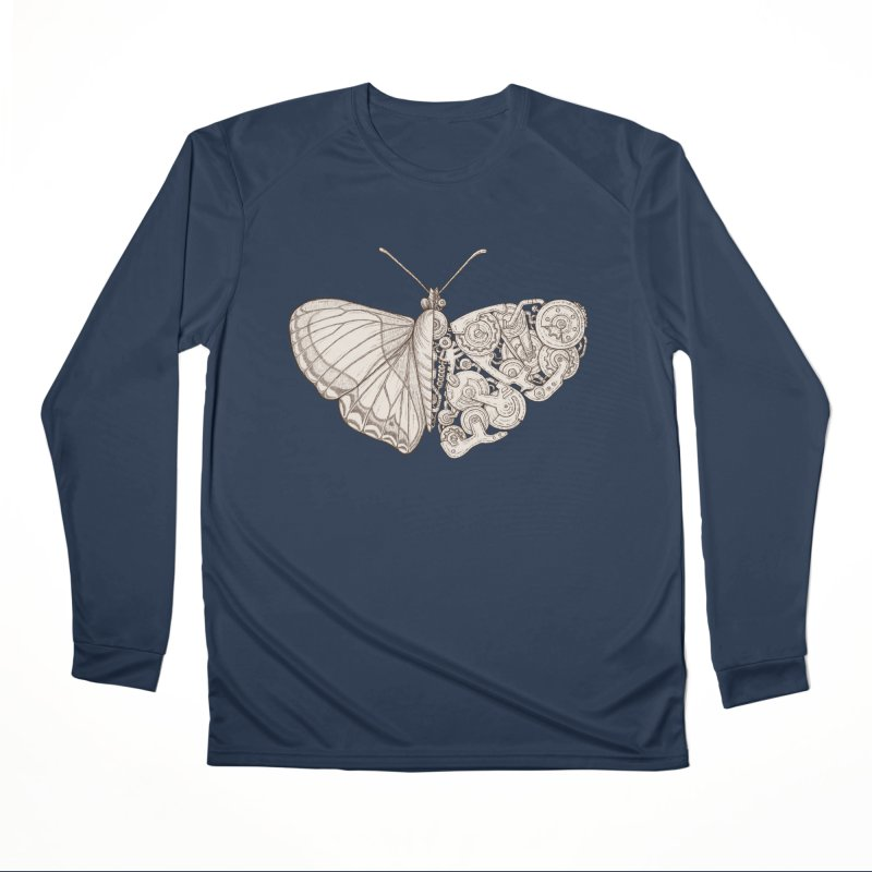 butterfly sci-fi Women's Performance Unisex Longsleeve T-Shirt by makapa's Artist Shop