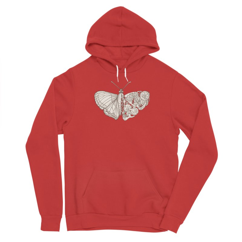 butterfly sci-fi Men's Pullover Hoody by makapa's Artist Shop