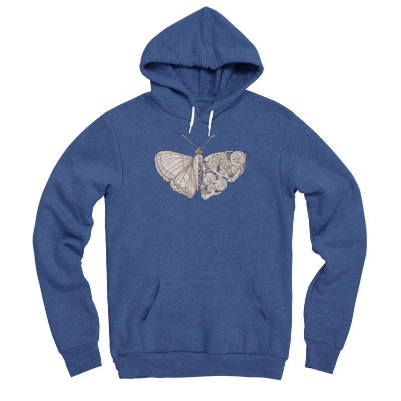 butterfly sci-fi Men's Sponge Fleece Pullover Hoody by makapa's Artist Shop
