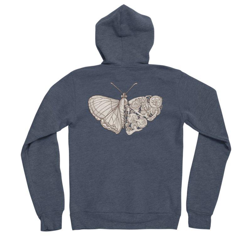 butterfly sci-fi Women's Sponge Fleece Zip-Up Hoody by makapa's Artist Shop