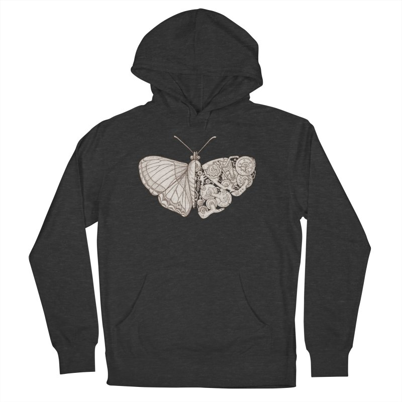 butterfly sci-fi Men's French Terry Pullover Hoody by makapa's Artist Shop
