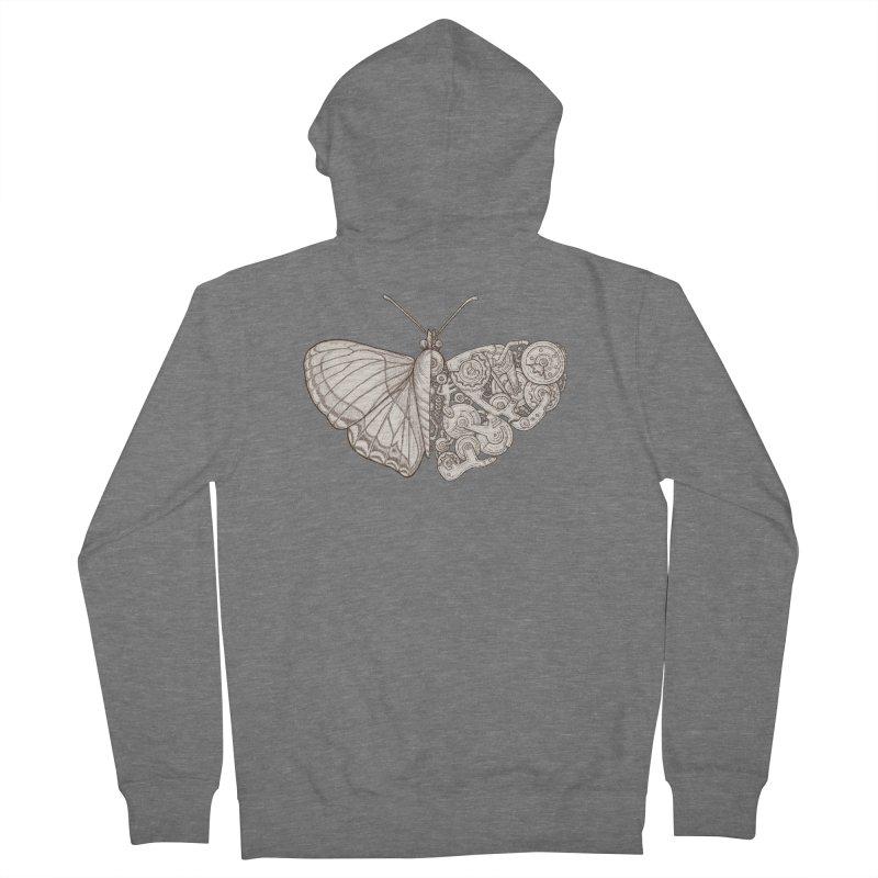 butterfly sci-fi Women's French Terry Zip-Up Hoody by makapa's Artist Shop