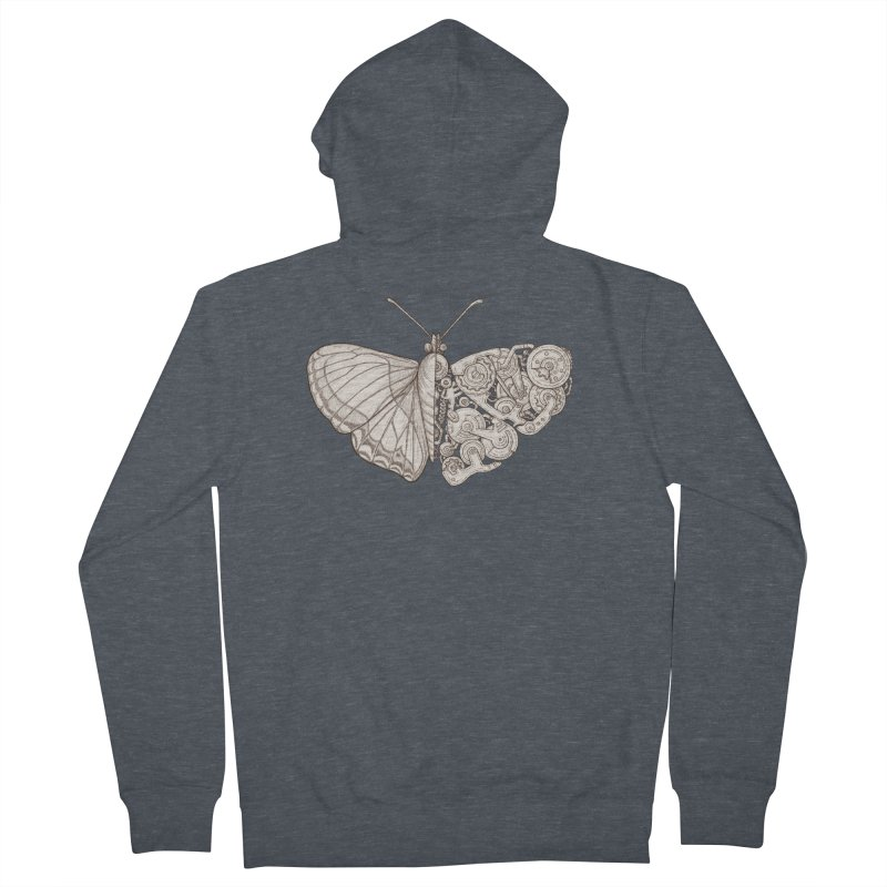 butterfly sci-fi Men's Zip-Up Hoody by makapa's Artist Shop