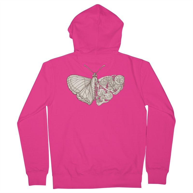 butterfly sci-fi Men's Zip-Up Hoody by makapa's Artist Shop
