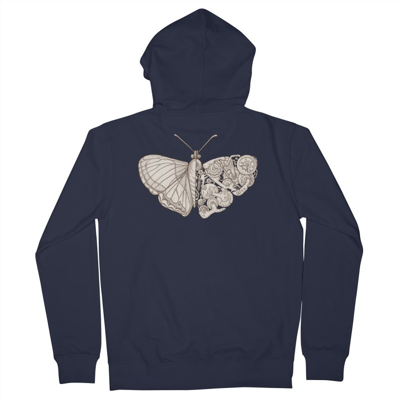 butterfly sci-fi Men's French Terry Zip-Up Hoody by makapa's Artist Shop