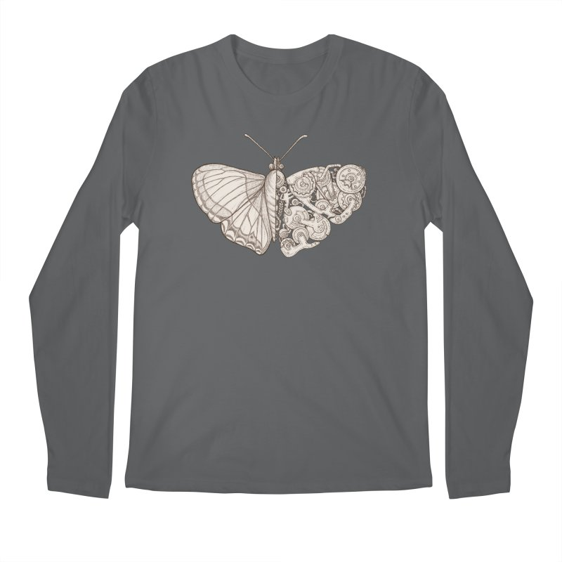 butterfly sci-fi Men's Longsleeve T-Shirt by makapa's Artist Shop