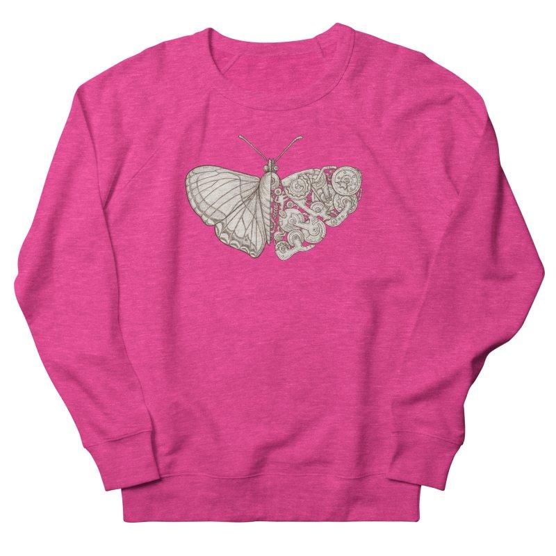 butterfly sci-fi Women's French Terry Sweatshirt by makapa's Artist Shop