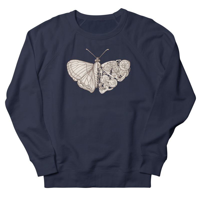 butterfly sci-fi Women's French Terry Sweatshirt by makapa's Artist Shop