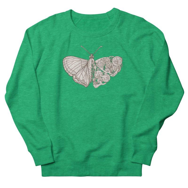butterfly sci-fi Men's French Terry Sweatshirt by makapa's Artist Shop