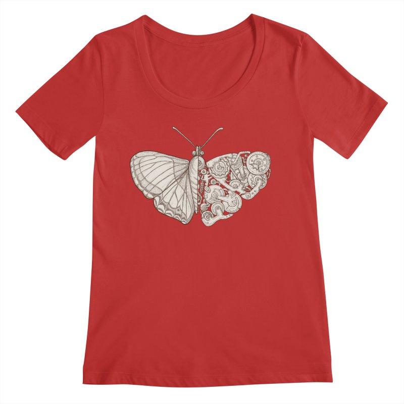 butterfly sci-fi Women's Regular Scoop Neck by makapa's Artist Shop
